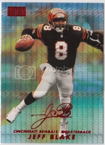 Card of the Day: Jeff Blake 1998 Skybox Premium Star Rubies #100