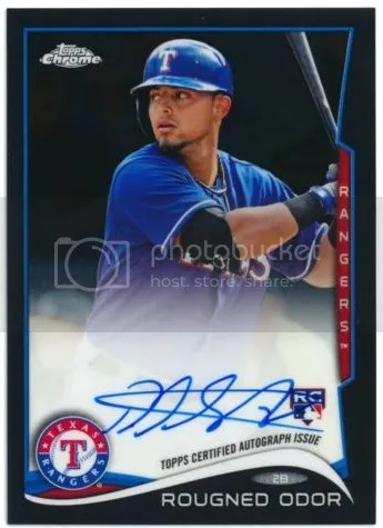 Card of the Day: Rougned Odor 2014 Topps Chrome RC Black Refractor Auto