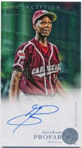 Card of the Day: Jurickson Profar 2013 Bowman Inception Little League Boxloader Auto