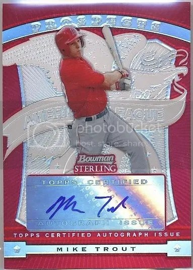 Card of the Day: Mike Trout 2009 Bowman Sterling Prospects Red Refractor Auto
