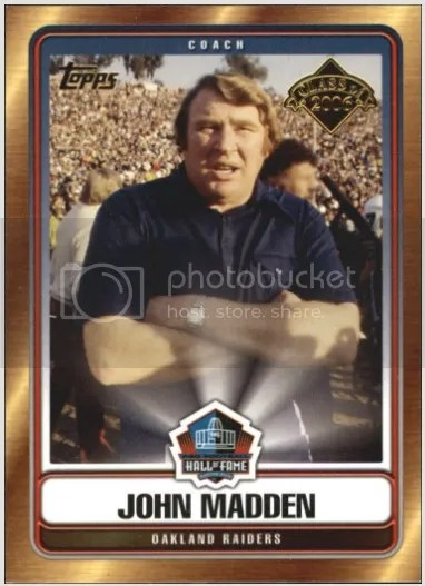 Card of the Day: John Madden 2006 Topps Hall of Fame Class of 2006