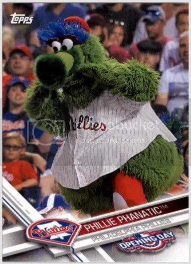 Card of the Day: Phillie Phanatic 2017 Topps Opening Day Mascots #11
