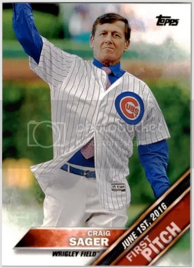 Card of the Day: Craig Sager 2016 Topps Update Series First Pitch #9