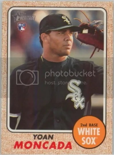 Card of the Day: Yoan Moncada 2017 Topps Heritage Action Image #117