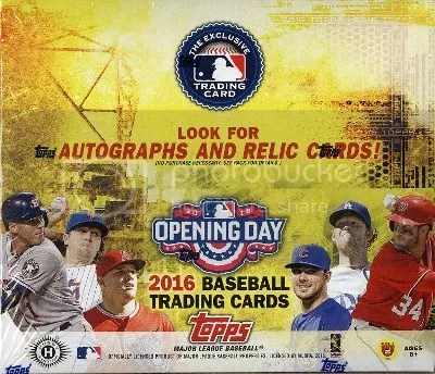 2016 Topps Opening Day Baseball Box Break & Review