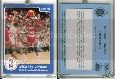 Michael Jordan 1984 1985 Star Co Roy 288 Counterfeits