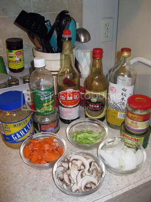 Lomein ingredients
