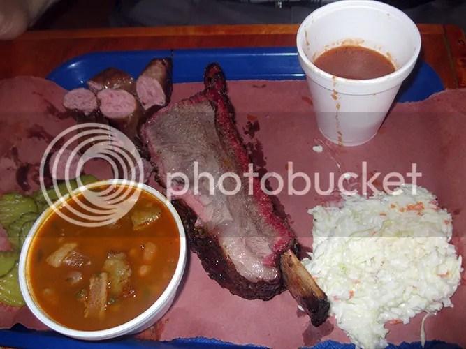 beef rib beef sausage coleslaw