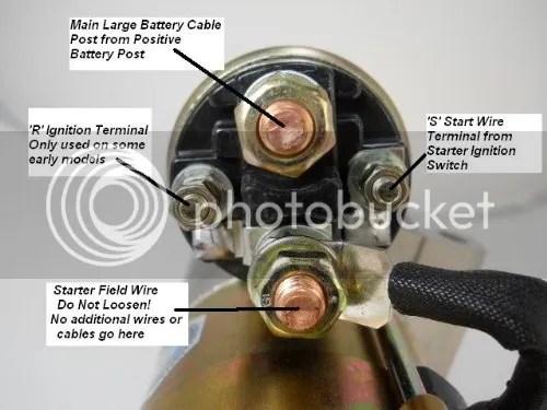 1974 Starter Solenoid Wiring Q.