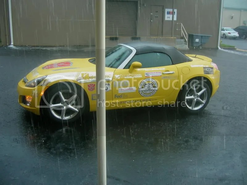 Fireball Run Pace Car in Rain