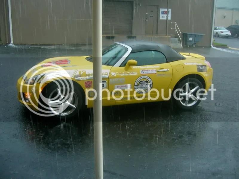 Fireball Run Pace Car in Rain