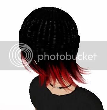 The colors are black cap & black/purple hair, black cap & black/red hair