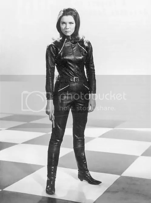 She's got man appeal. Emma Peel. Get it?