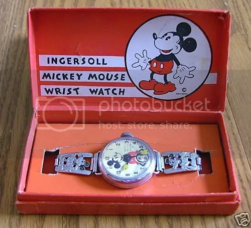 Image result for mickey mouse watch, 1933