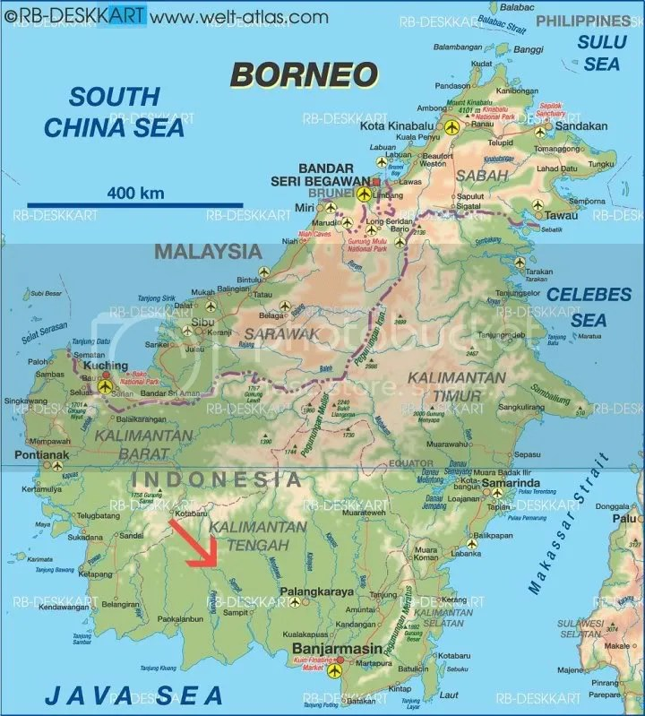 Borneo Kualakuayan location