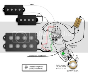 Pbass  musicman humbucker wiring diagram question