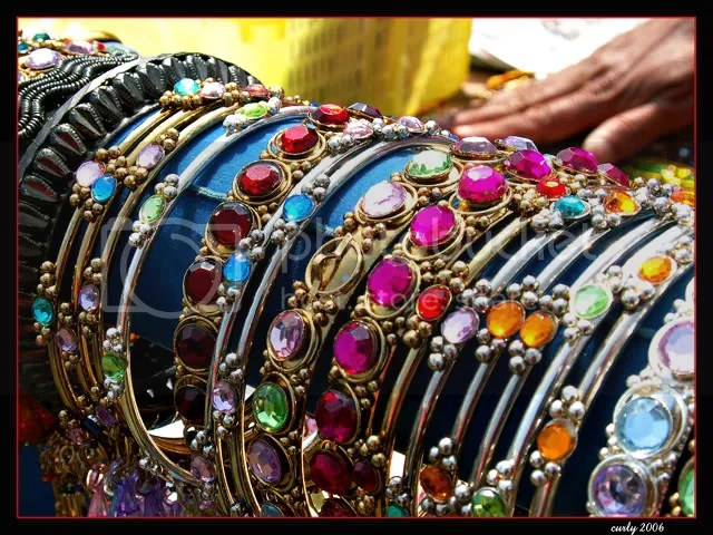 picture of bangles, Mela, South Shields, Bents Park