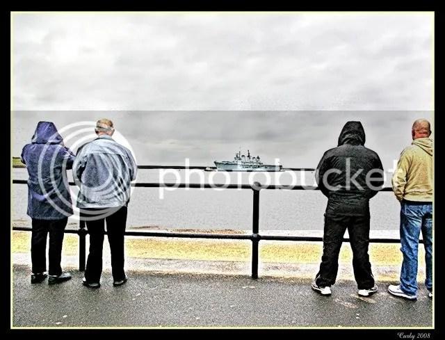 HMS Illustrious, South Shields harbour
