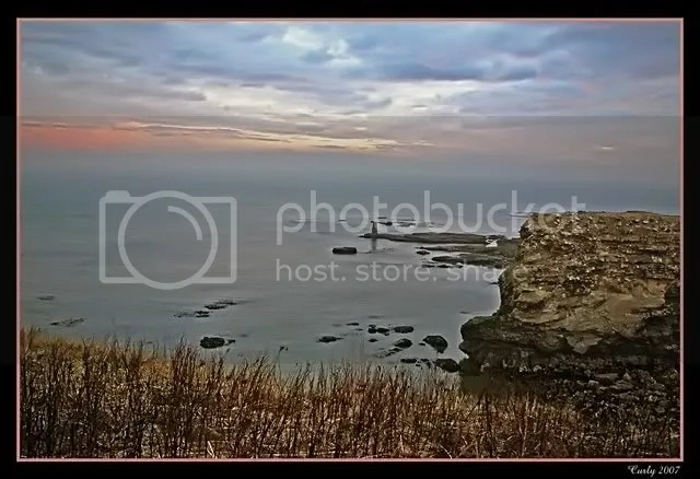 sunrise behind Souter Lighthouse, South Shields