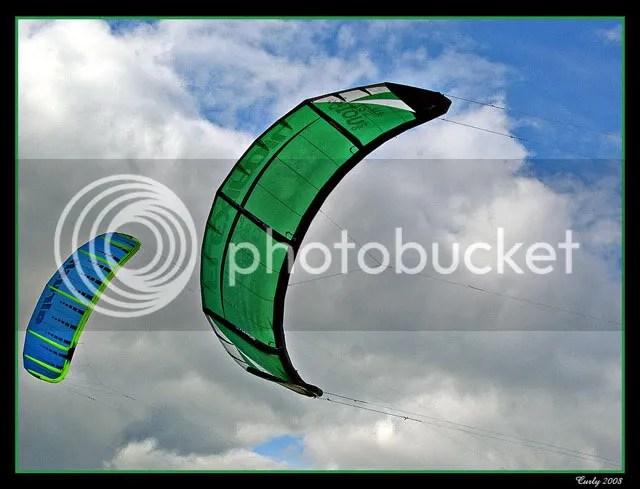 kiteboarding in South Shields