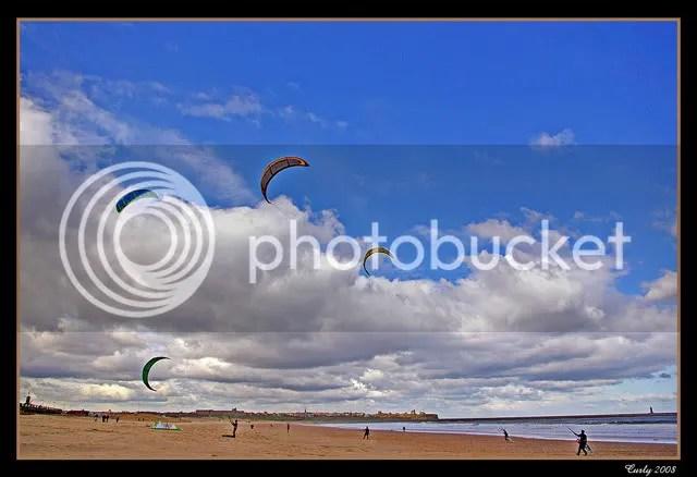 kite boarding, South Shields