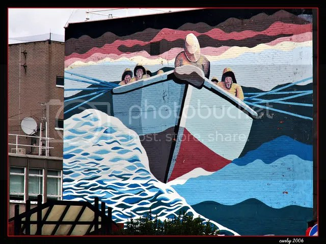 picture, DHSS mural, market place, south shields