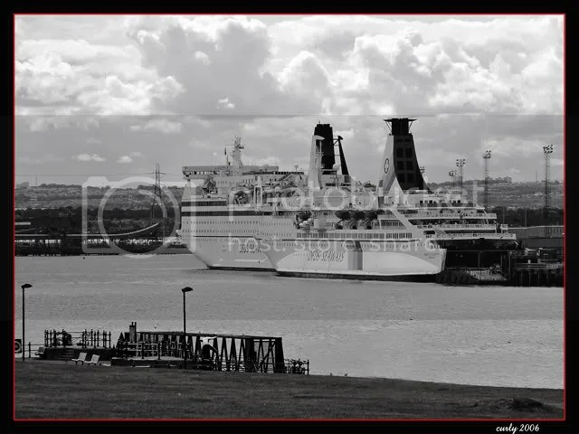 picture, DFDS ferries,seen from South Shields