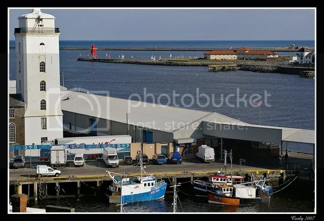 North Shields fish quay and South Shields