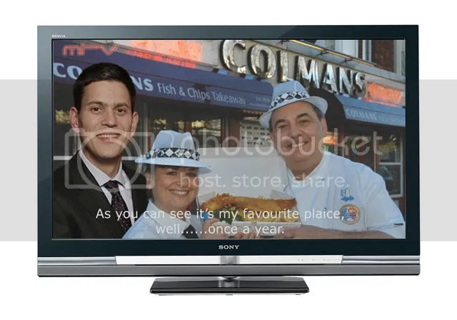 David Miliband, Colemans, South Shields