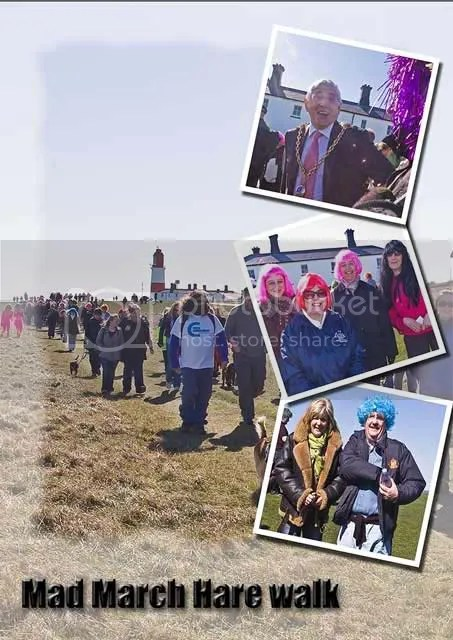 Mad March Hare walk, South Shields