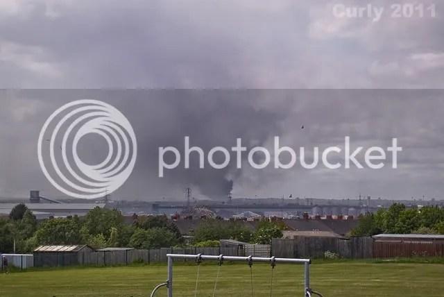 Scrapyard fire in Byker, Newcastle
