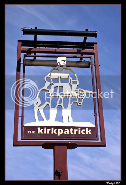 Kirkpatrick's pub sign, Ocean Road, South Shields