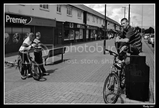 Boys on bikes, Whiteleas Way, South Shields