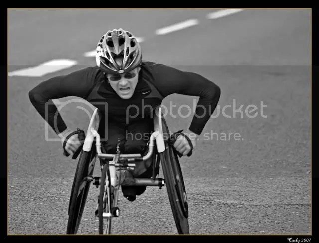 Great North Run wheelchair competitor