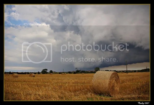 Hay bales, Whitburn, near South Shields