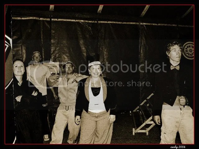 picture of circus performers in South Marine Park, South Shields