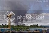 Newcastle scrapyard fire, from Hebburn