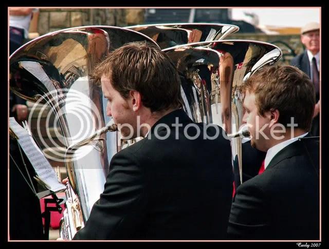 Tuba players, Westoe Brass Band, South Shields