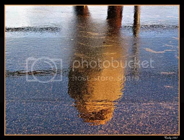 standing in water, South Shields