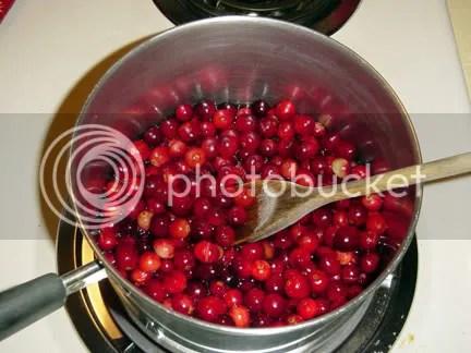 cooking cranberries!