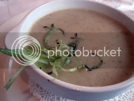 smoked potato  and green onion soup at The Bay House