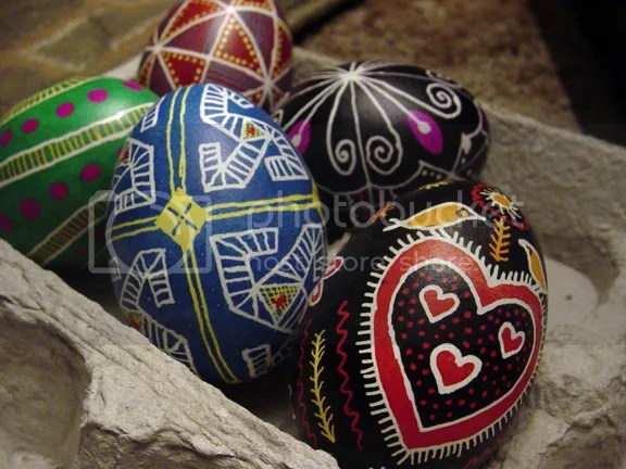 alternate angle of pysanky