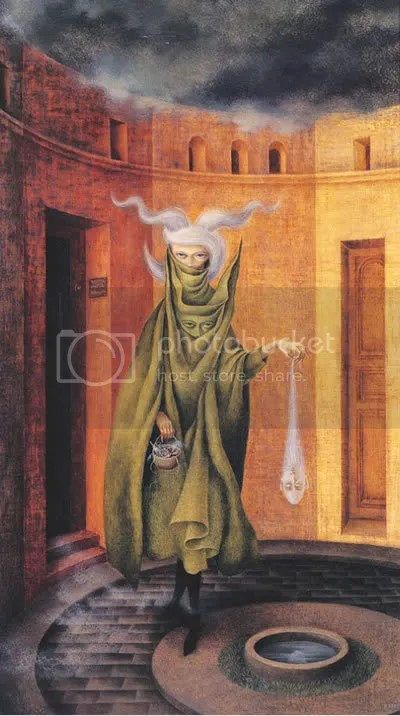 Varo, woman leaving the psychoanalyst