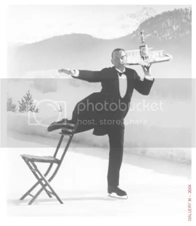Eisenstaedt likes the waiters at the St Moritz