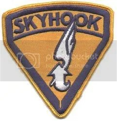 Skyhook patch, for the happy hookers