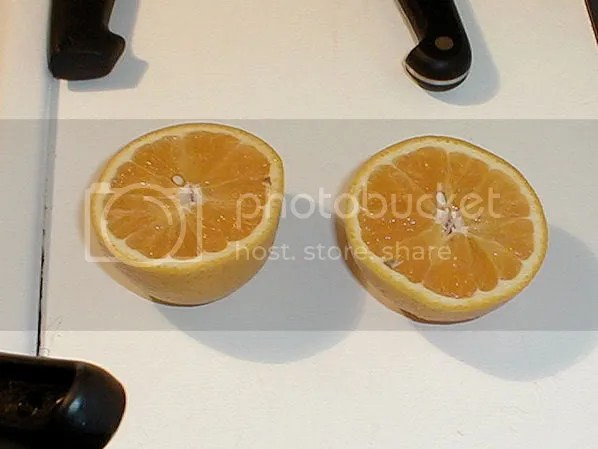 One of two oranges