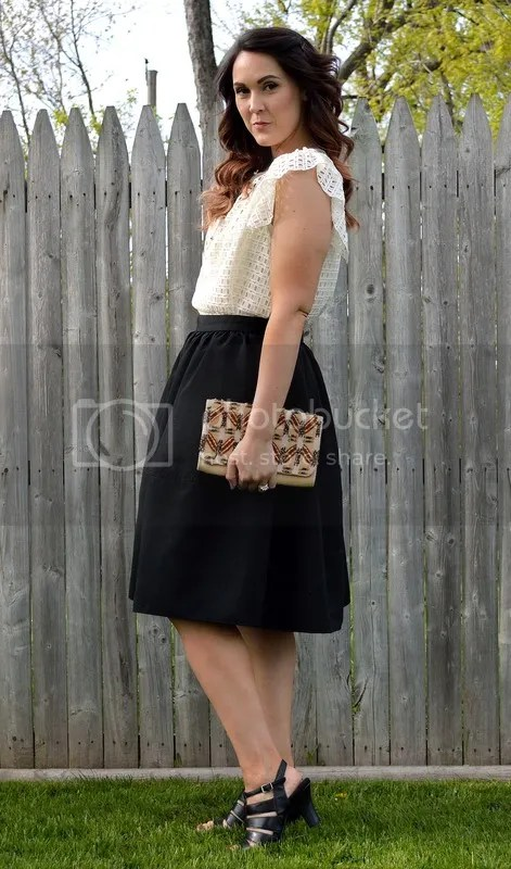 photo Black skirt with white lace top.jpg