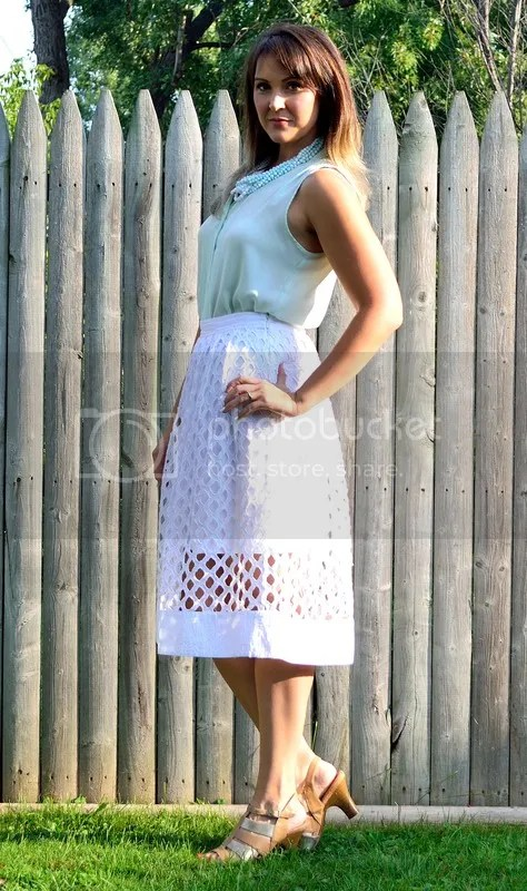 photo White skirt with blue top.jpg