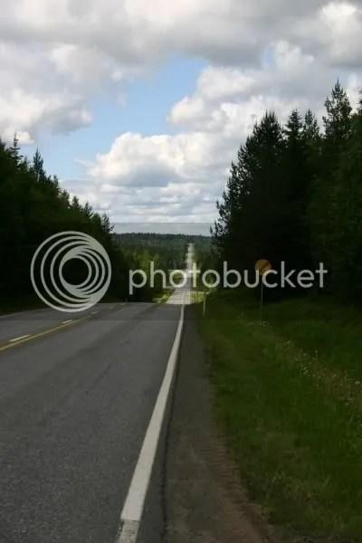weg tussen Kuopio en Oulu
