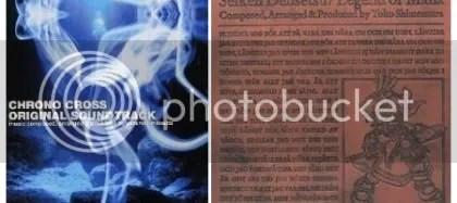 Chrono Cross and Legend of Mana Original Soundtrack album covers